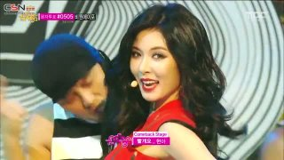 Black List; Red (Music Core - Comeback Stage - 140726) - HyunA; LE