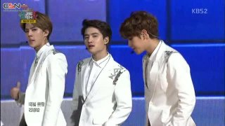 Overdose; Growl; Sabor A Mi (Music Bank In Mexico 141112) - EXO-K