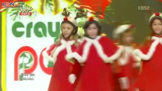 Lonely Christmas + BarBarBar (Music Bank Christmas Special) - Crayon Pop